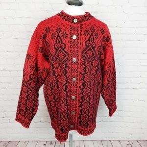 Dale of Norway Intricate Snowflake Knit Sweater